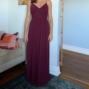 Elegant Ruched Evening Gown